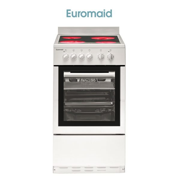 Euromaid CW50 50cm Upright Cooker – Electric Oven & Ceramic Cooktop-store