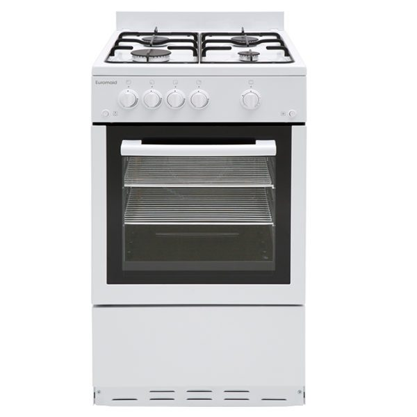 Euromaid GGFW50 50cm Freestanding CookerStove – LPG Oven, Grill & Cooktop-front view