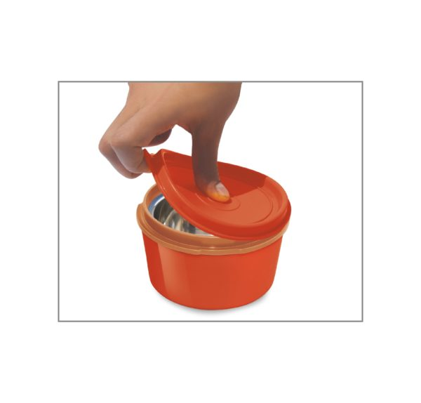 MFT31OR Milton 3+1 Flexi Tiffin Insulated Food Container & Carrier