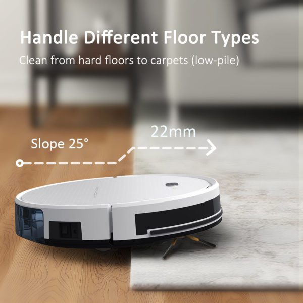Tesvor X500 Pro Robot Vacuum Cleaner and Mop 1800Pa Strong Suction Self-Charging Wi-Fi Connected – Different Floor