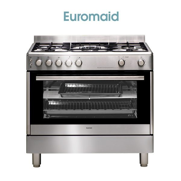 Euromaid GG90S 90cm Stove/Cooker – Gas Oven & Gas Cooktop