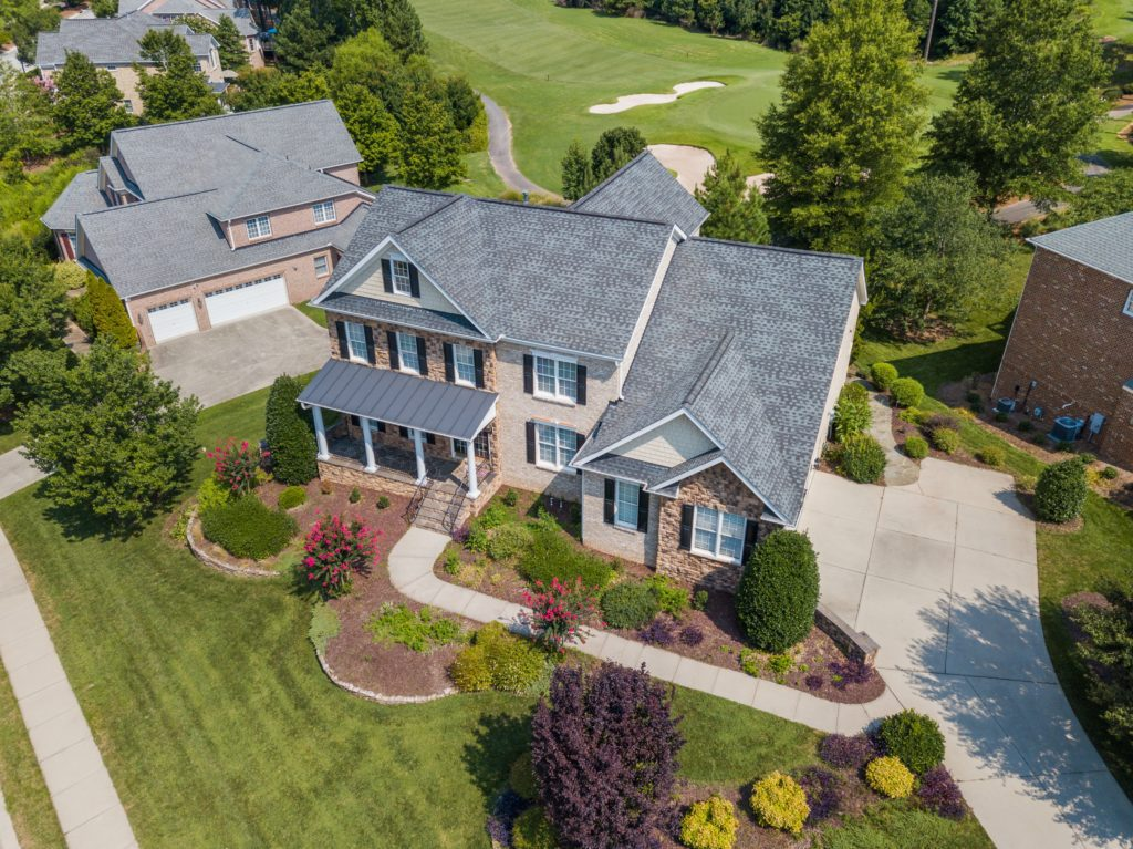 Drone aerial view of real estate